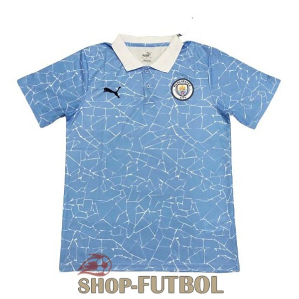 manchester city 2020-2021 polo azul